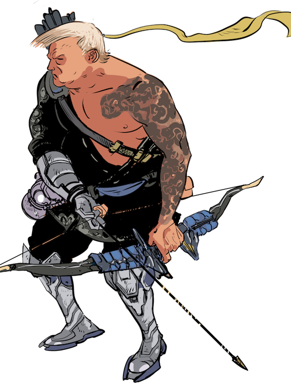Donald Trump as Hanzo from the hit Blizzard video game 'Overwatch'