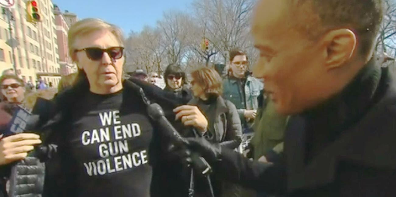 Sir Paul McCartney at the March For Our Lives
