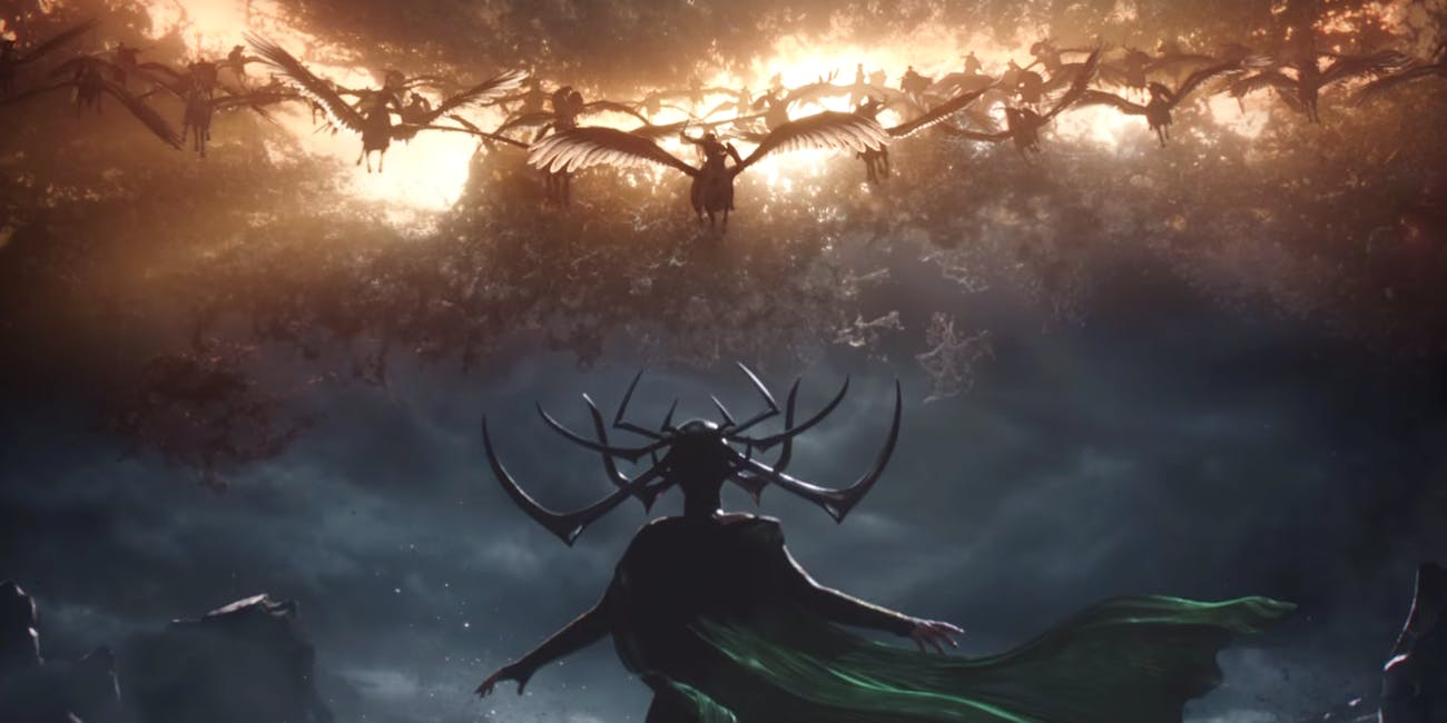 The Valkyrie in 'Thor: Ragnarok'