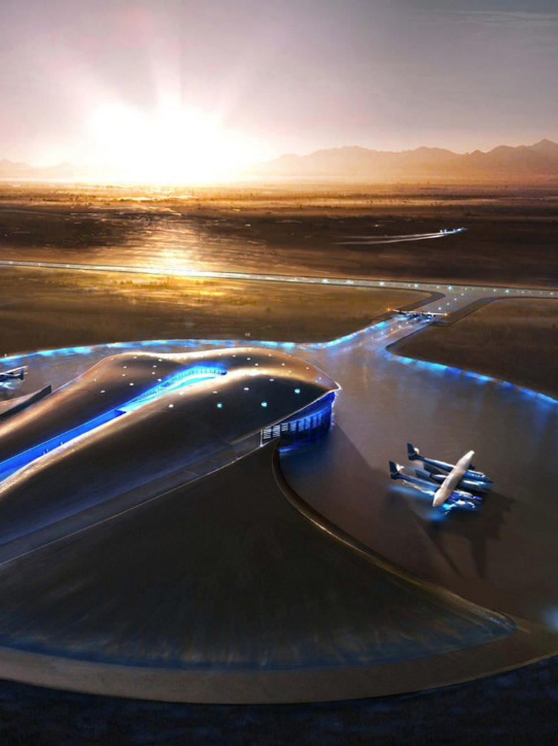 Terminal Hangar Concept, Spaceport AmericaSpaceport America Conceptual Images URS/Foster + Partners
