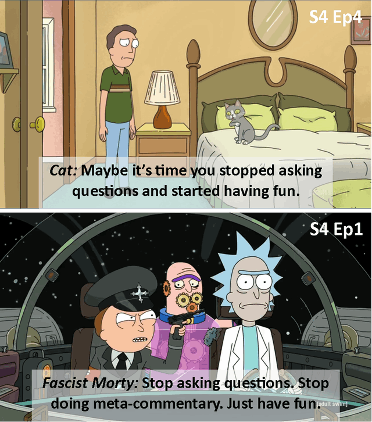 rick and morty no questions