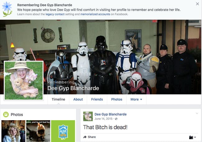The Facebook page for Dee Gyp Blancharde, who was killed by her daughter, Gypsy Blancharde.
