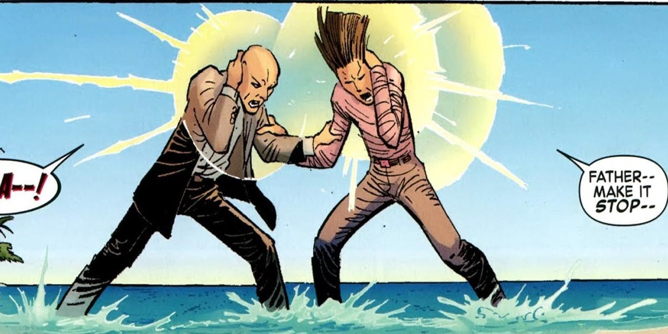 David Haller's relationship with his real father, Professor X, is complicated.