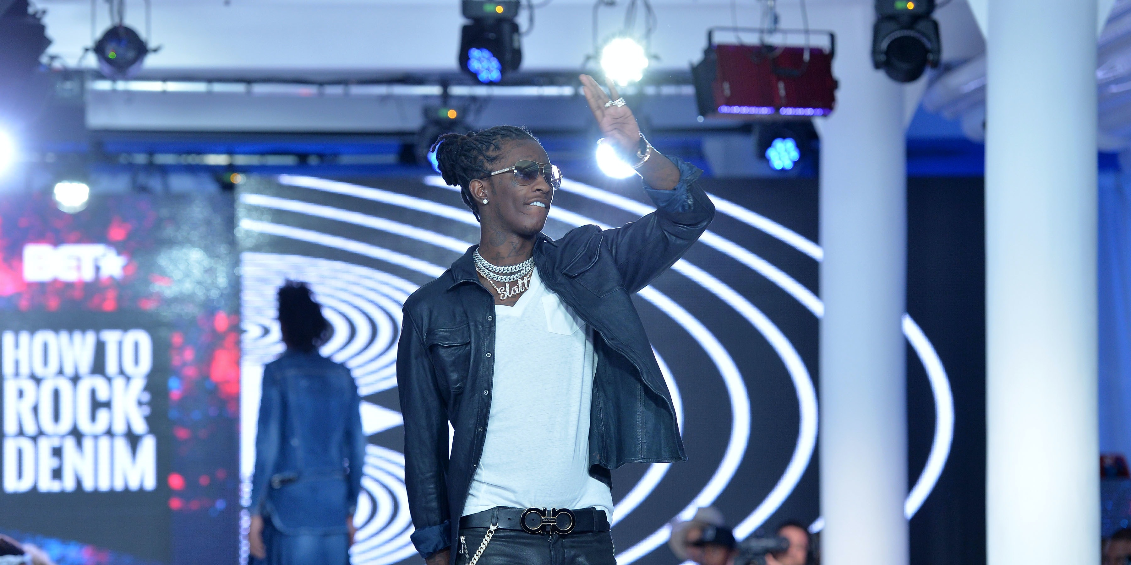 Young Thug at the BET How to Rock Denim show