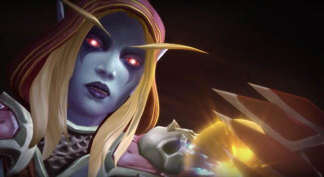 Sylvanas Windrunner looks at Azerite