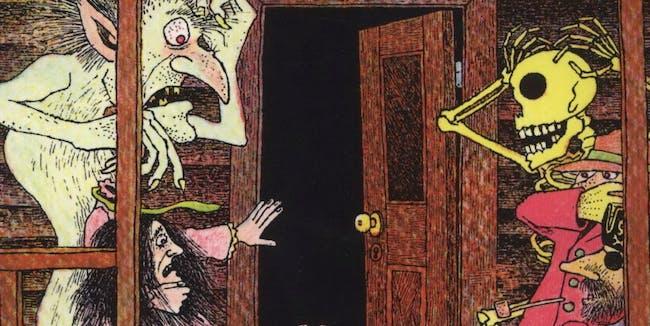 In A Dark Dark Room Book The Green Ribbon