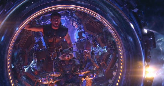 Early on in 'Infinity War', Thor joins up with the Guardians of the Galaxy.