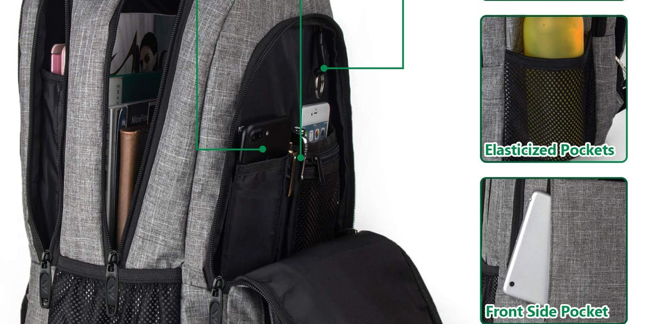 Travel Laptop Backpack,Business Anti Theft Slim Durable Laptops Backpack with USB Charging Port