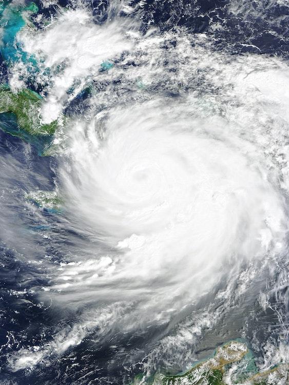 hurricane matthew over haiti
