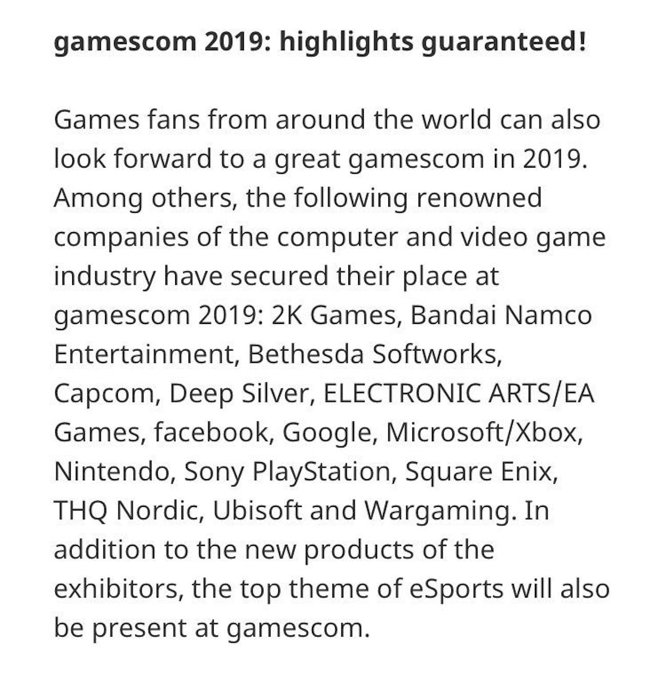 sony gamescom 2019