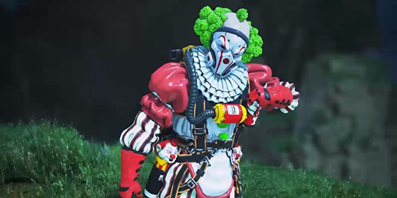 apex legends caustic clown skin