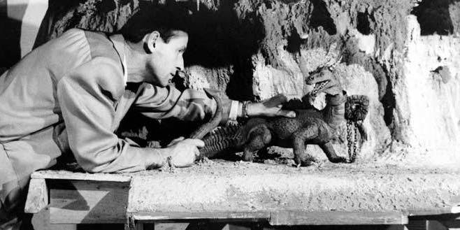 Ray Harryhausen animates Taro.