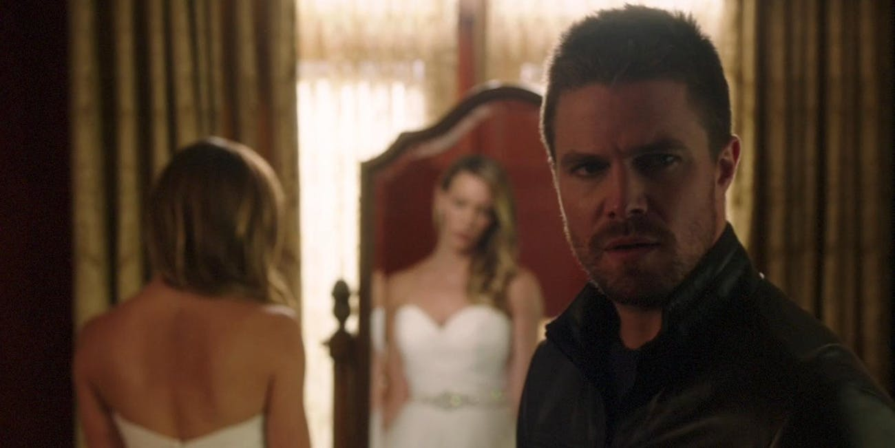 The upcoming Arrowverse crossover might have more than one wedding.