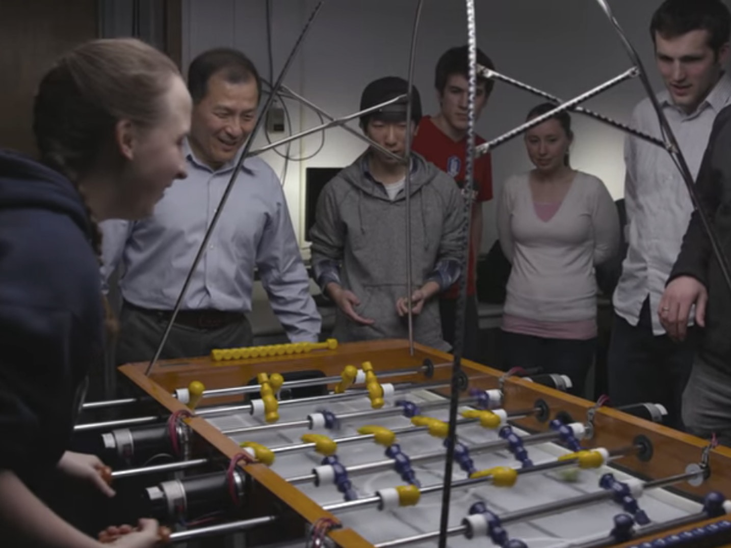 Watch BYU Students Lose to Their Own Foosball-Playing A.I. Robot
