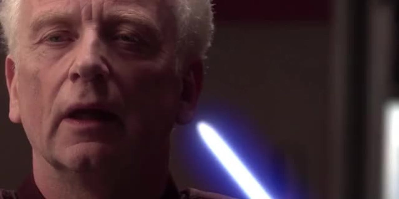 Palpatine is creepy as Sith...in more way than one.