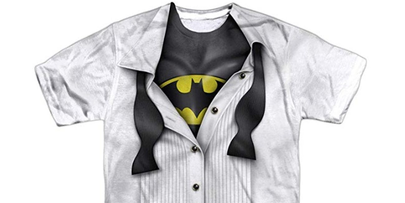 DC Comics Adult Superhero Costume T Shirt I'm Superman, Batman, The Flash & Wonder Woman