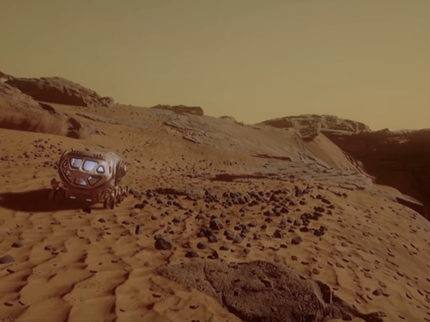 Playing VR Game 'Mars 2030', Which Uses NASA Data to Explore the Red Planet