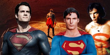 Various versions of 'Superman' and 'Krypton'