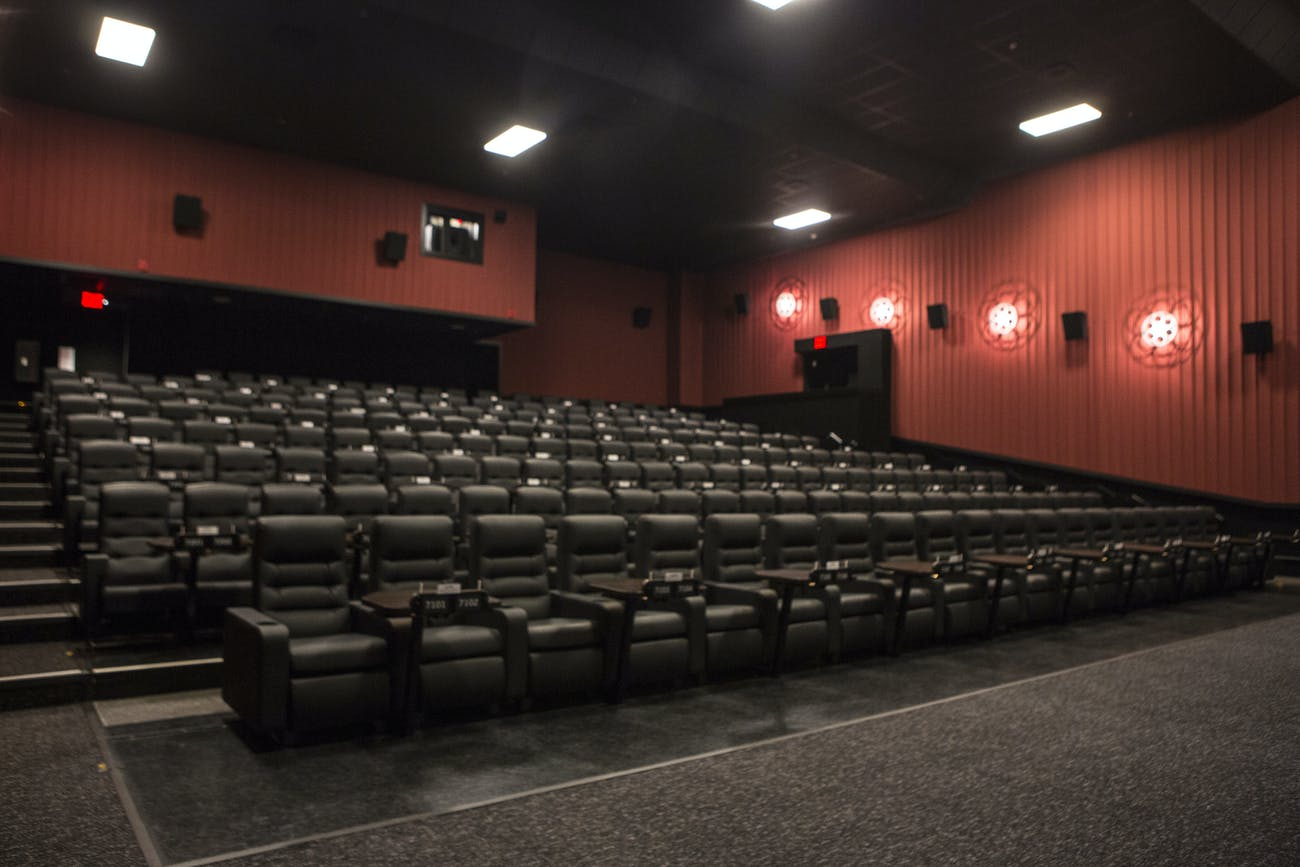 The biggest theater at the Brooklyn Alamo Drafthouse.