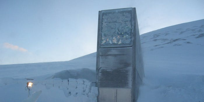 Svalbard Global Seed Vault in the snow