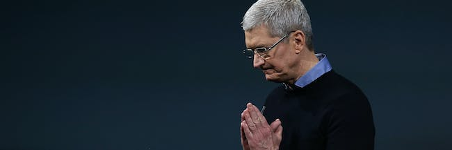 CUPERTINO, CA - MARCH 21:  Apple CEO Tim Cook speaks during an Apple special event at the Apple headquarters on March 21, 2016 in Cupertino, California. The company is expected to update its iPhone and iPad lines, and introduce new bands for the Apple Watch.  (Photo by Justin Sullivan/Getty Images)