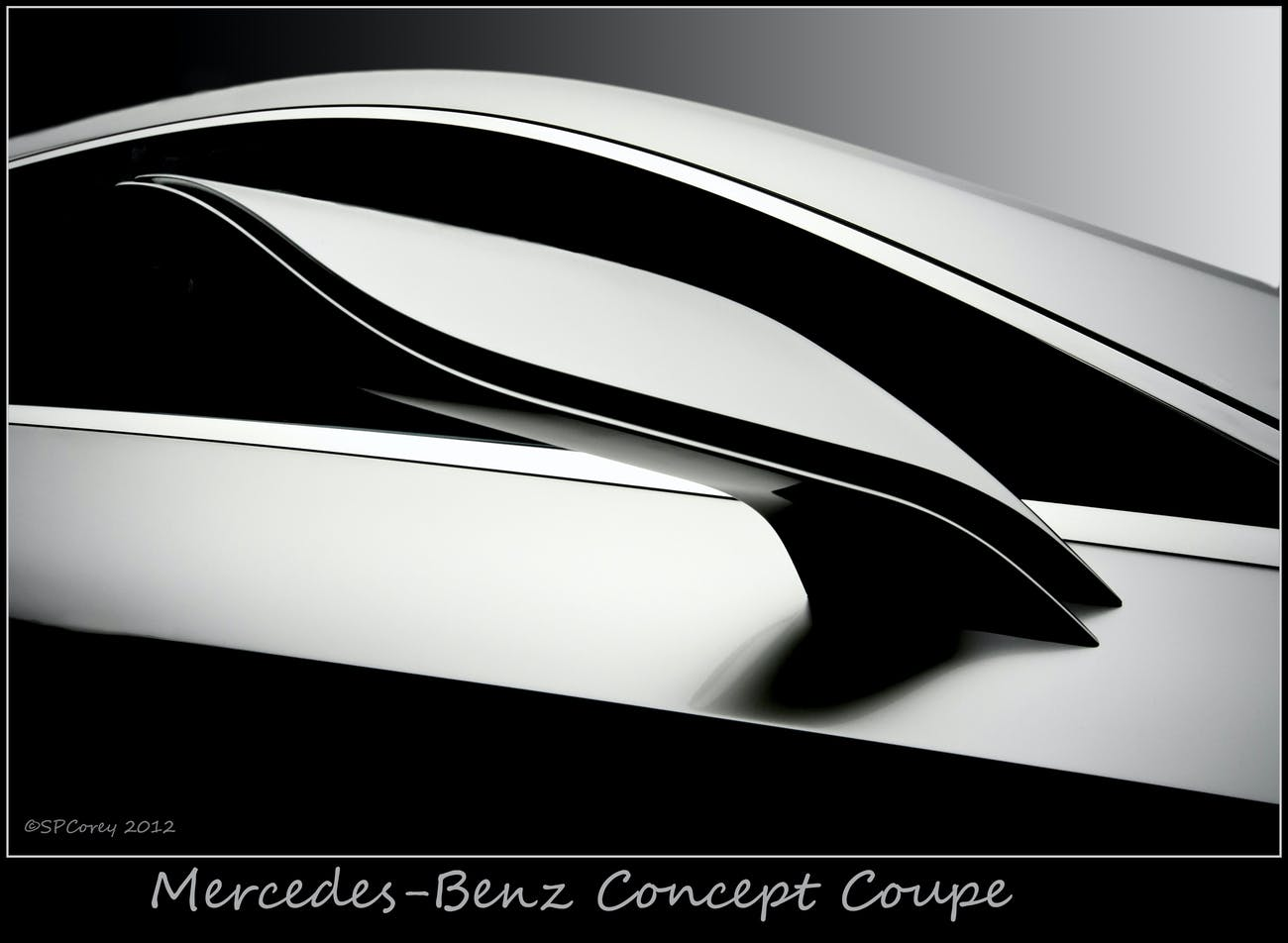 Prominent line design, even for a mirror, shows the artistic freedom available to the designers of a concept car prior to production. I must have taken 16 images just of this door mirror as an example of the beautiful lines that will, in time, replace our box shaped cars produced today. Image taken at the Pebble Beach Concours d'Elegance, 2012. Thanks for viewing. 500px.com/stevecorey