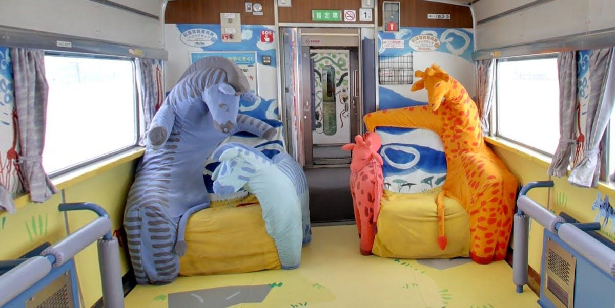 Asahiyama Zoo Train in Japan