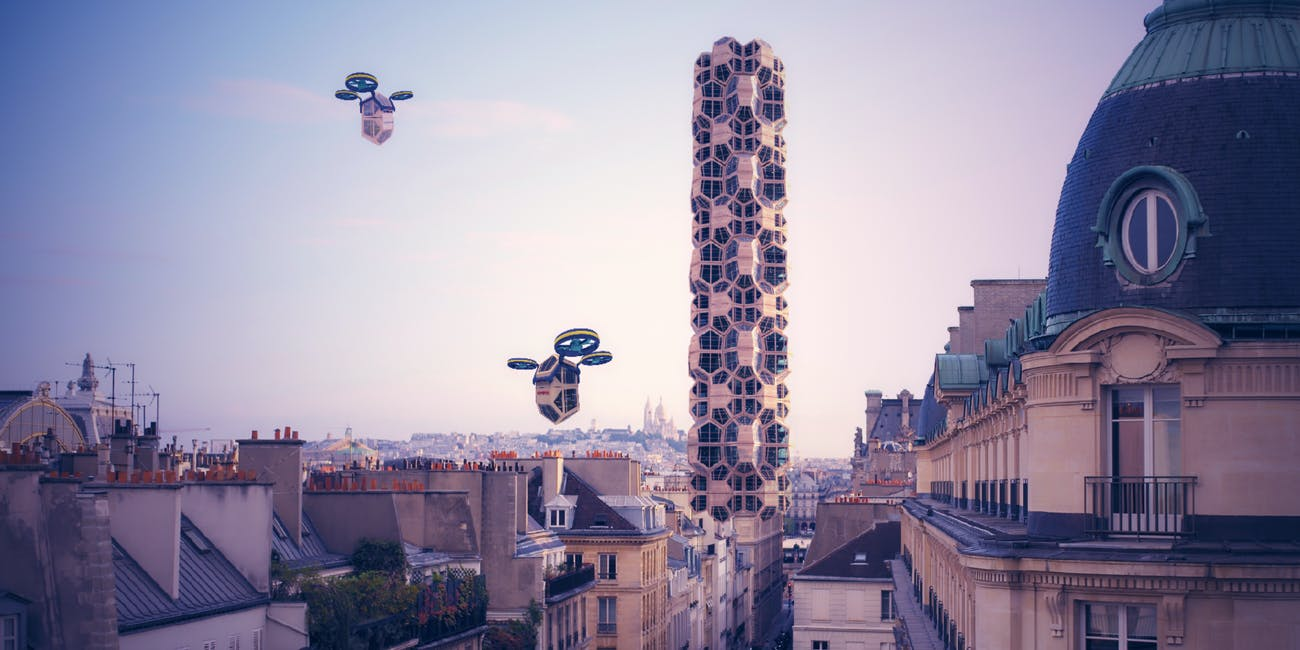 Homepod flying through the air.