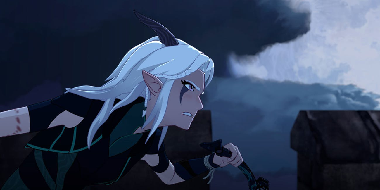 Rayla the Moonshadow Elf assassin in 'The Dragon Prince'