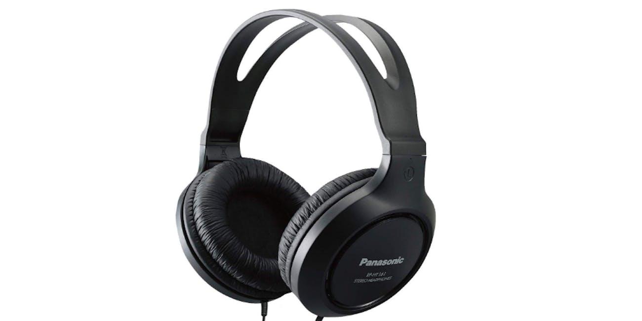 Panasonic Headphones RP-HT161-K Full-Sized Over-the-Ear Lightweight Long-Corded
