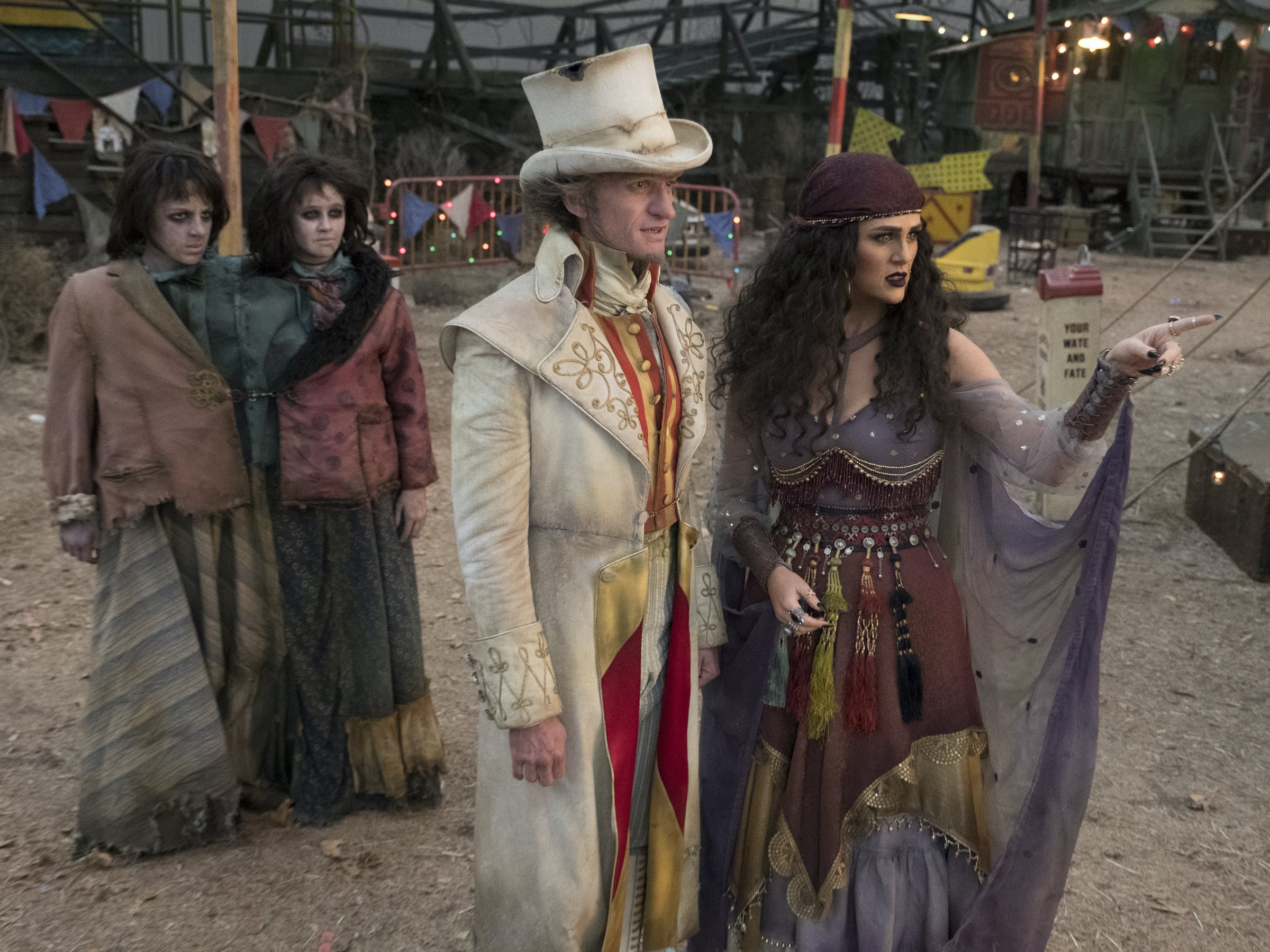 Olivia undercover at the Caligari Carnival.