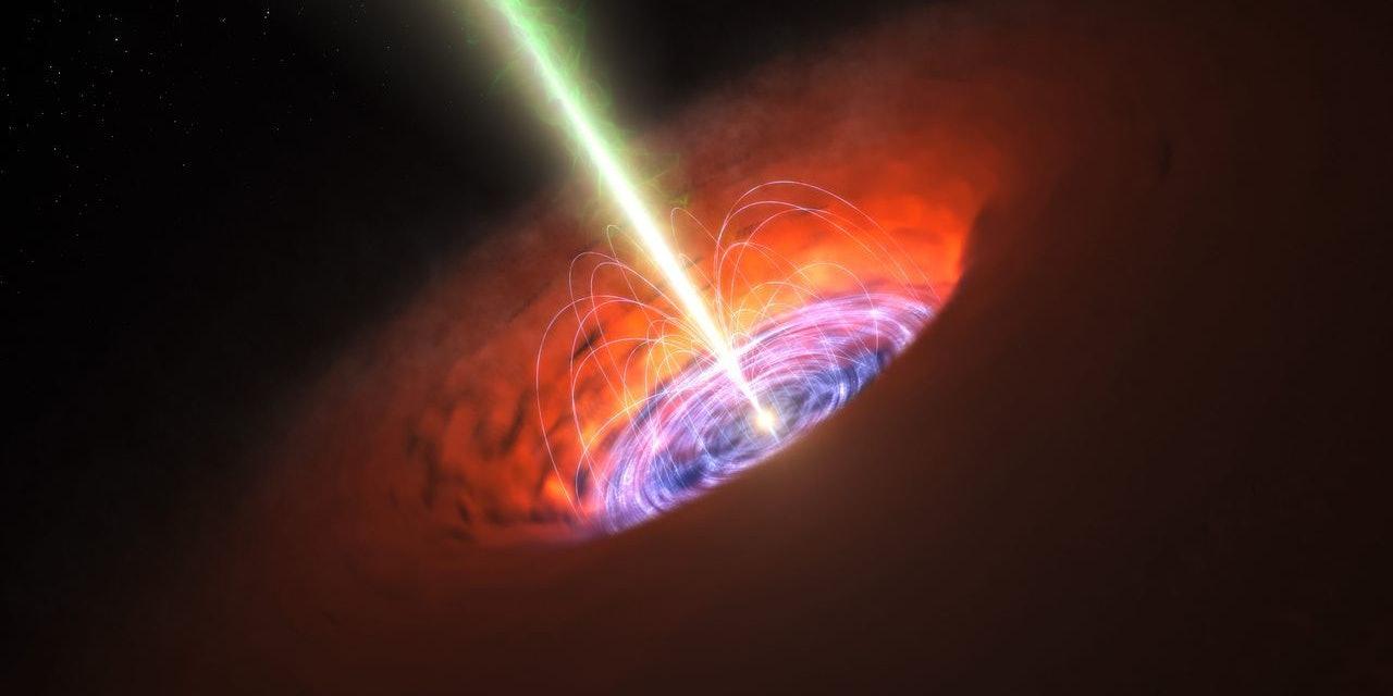 Artist's depiction of a supermassive black hole.