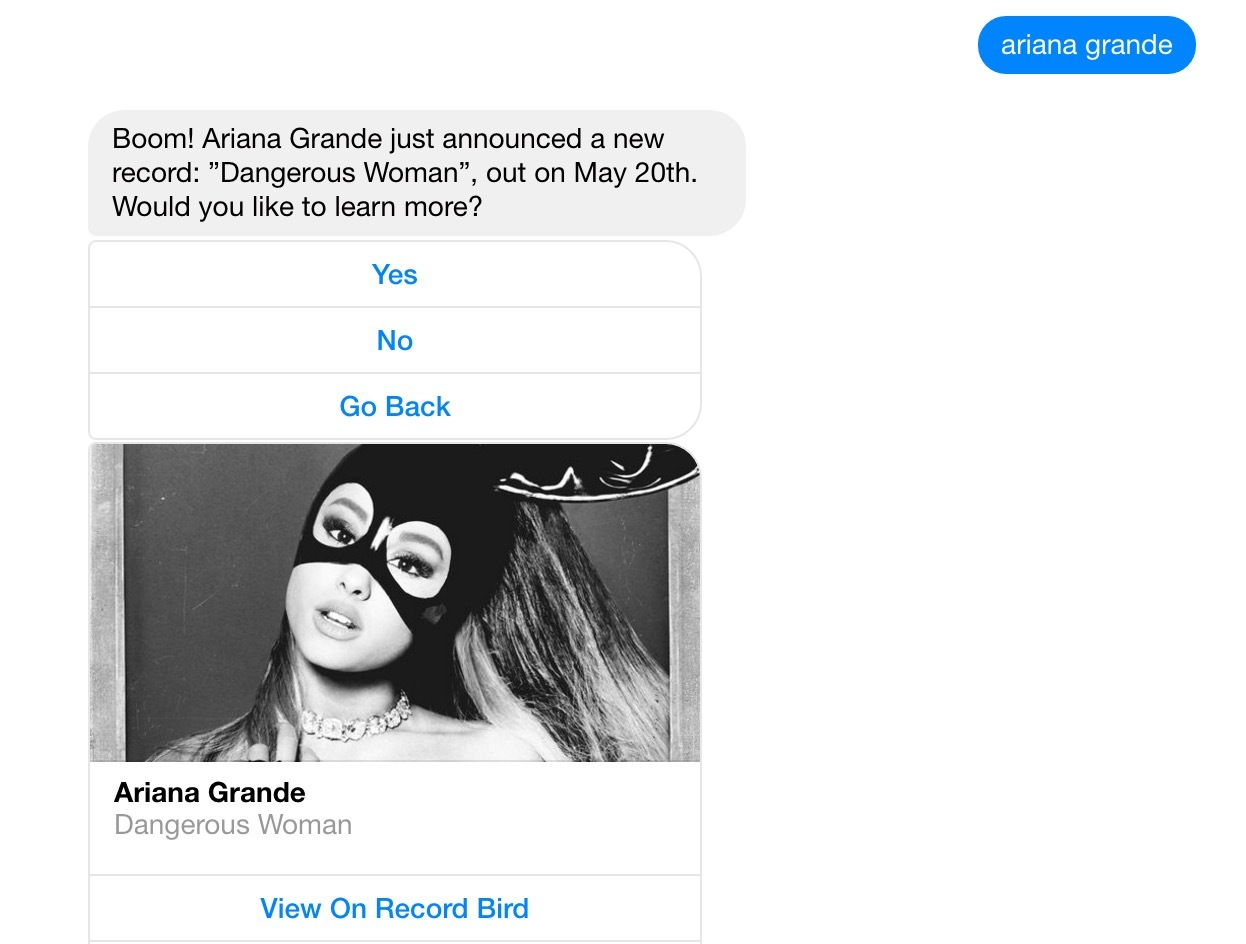My search for Ariana Grande's upcoming release