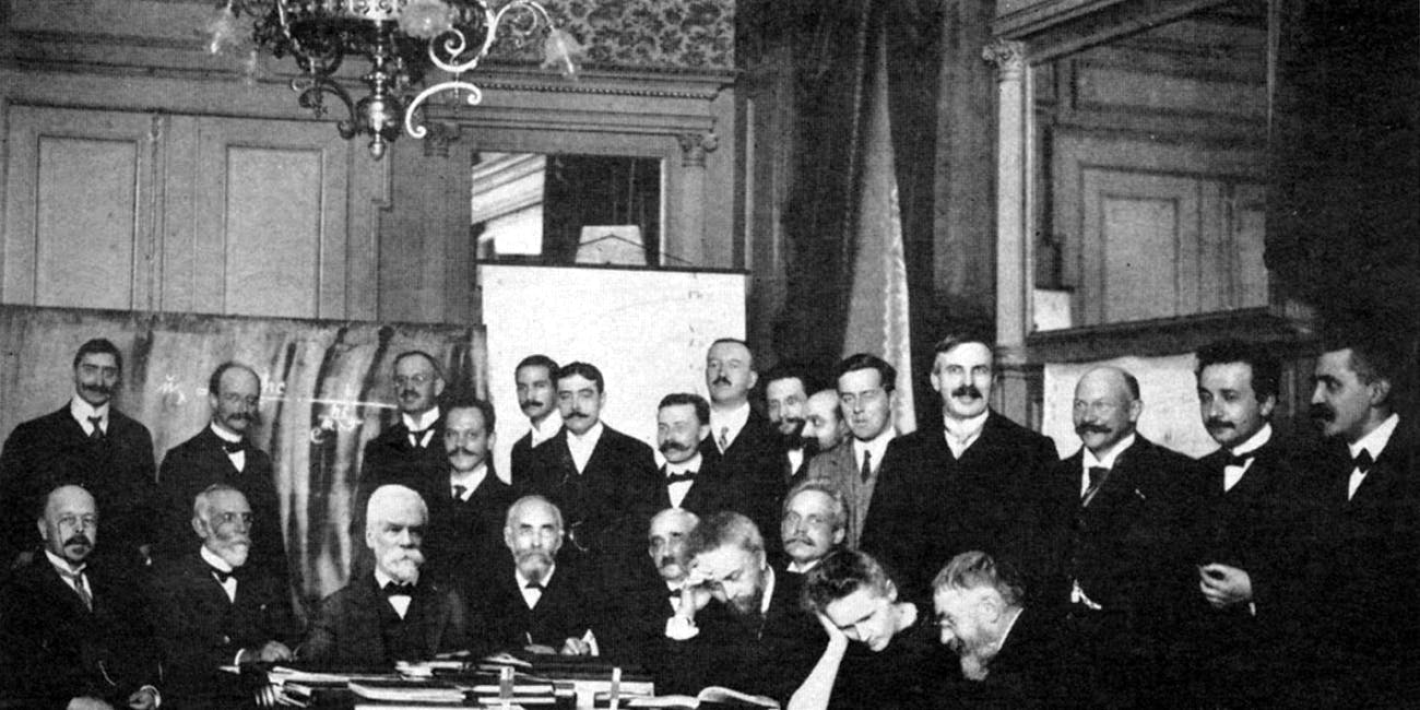 Marie Curie at a physics conference in Brussels, in 1911