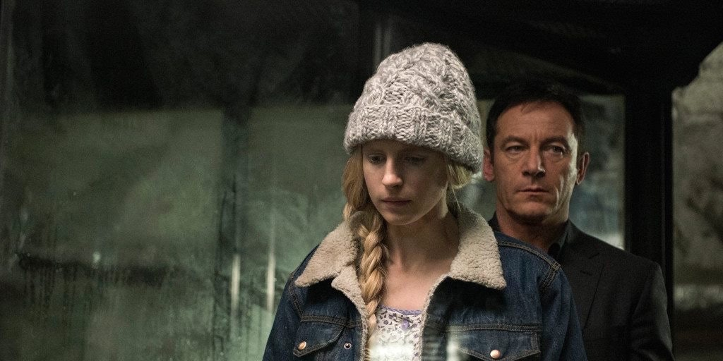 Brit Marling and Jason Isaacs in 'The OA'
