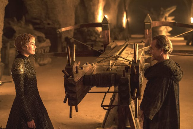 Cersei Lannister and her scorpian in 'Game of Thrones' Season 7