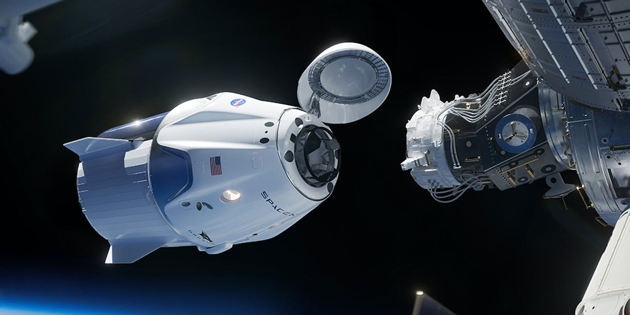 Crew Dragon docking with the International Space Station