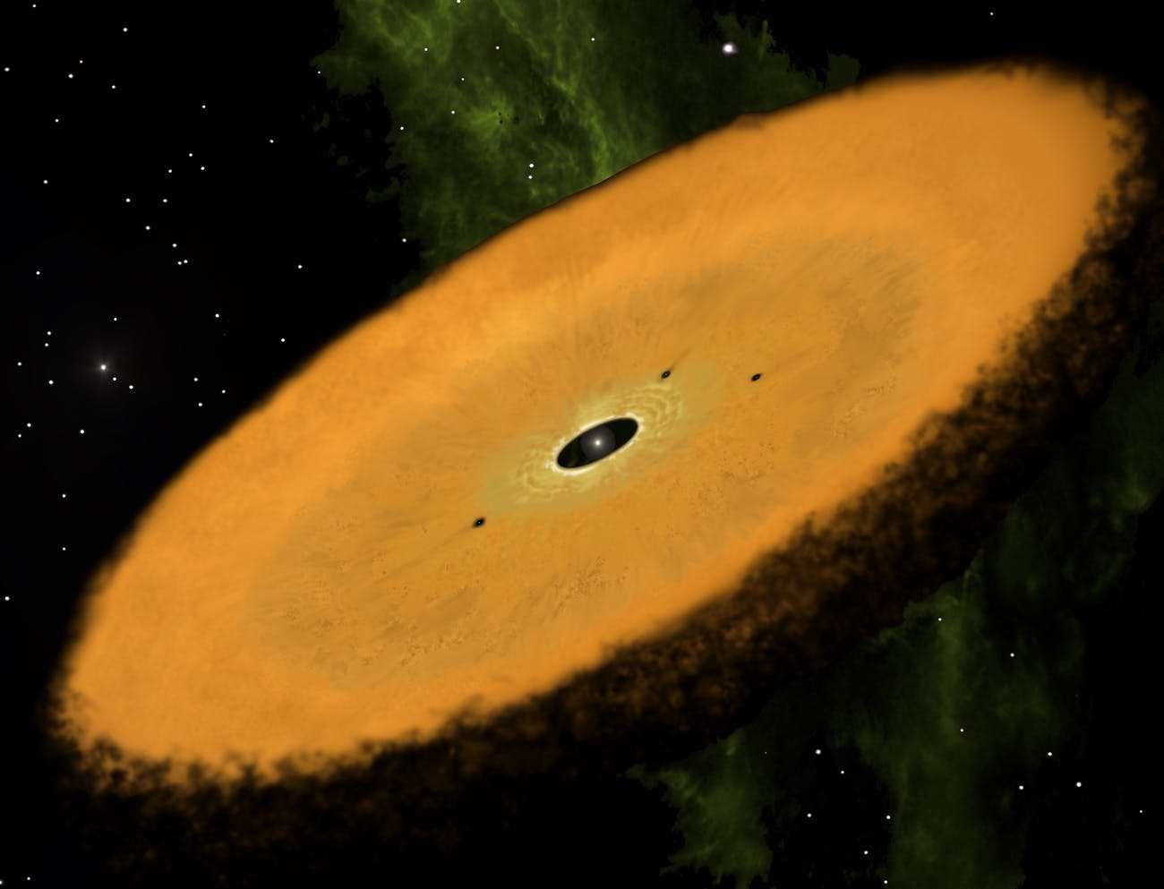 Artist conception of the newly discovered disk.