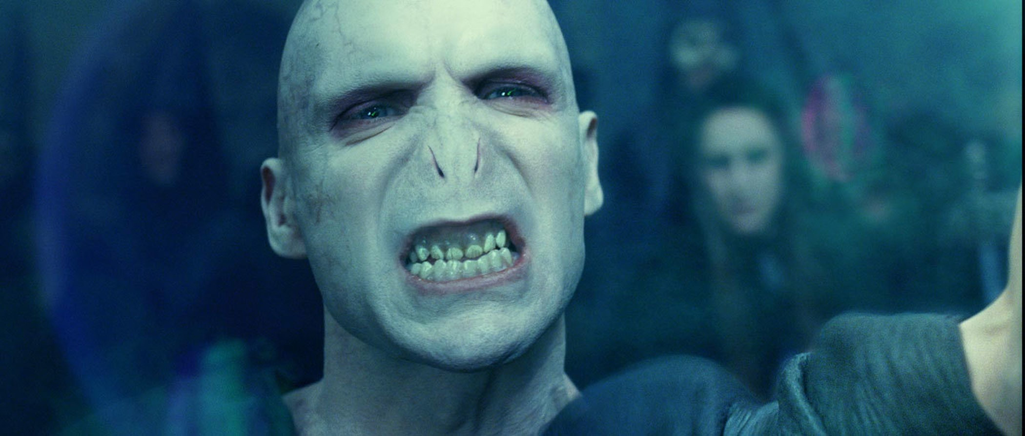 Failed Olympian Lord Voldemort would be a better swimmer if he had a nose.