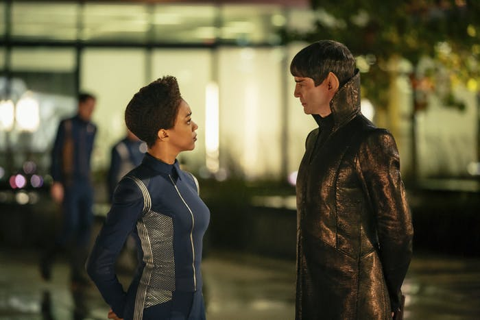 Burnham and her adoptive father Sarek