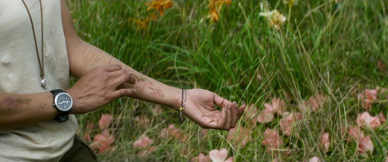 Tessa Thompson's plant arm in 'Annihilation'