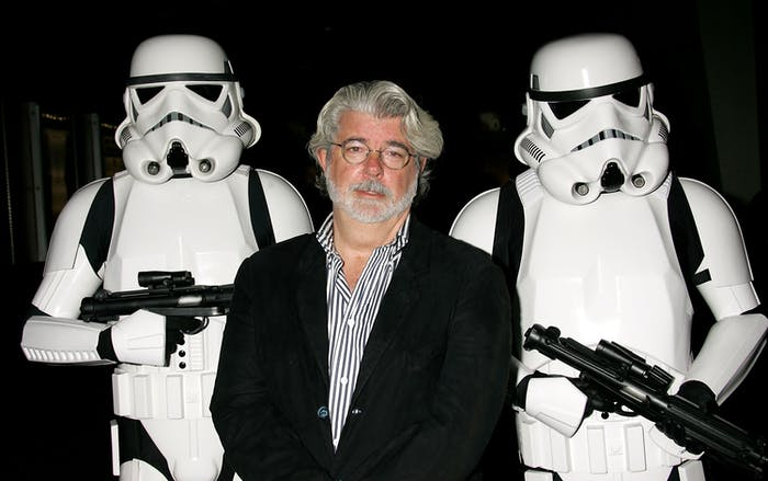 George Lucas with some friends.