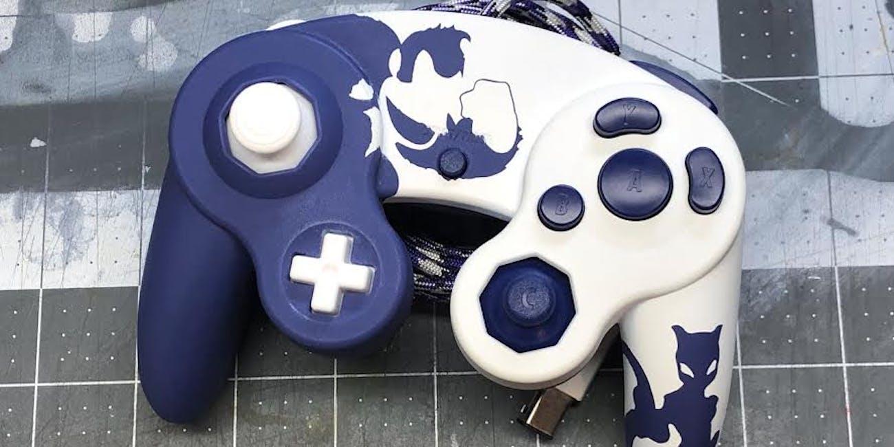 custom gamecube controller pinkcaid