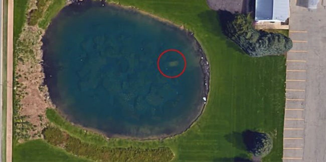 sunken car google maps