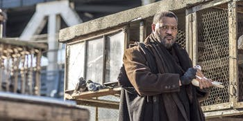 John Wick Chapter 2 The Bowery King Laurence Fishburne Keanu Reeves Matrix
