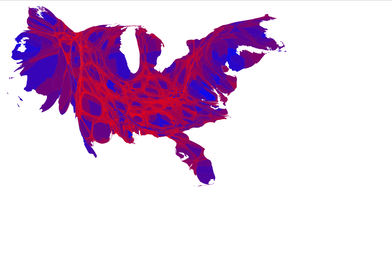The Real Political Map Is Shockingly Different From CNNs - Us election map by county purple