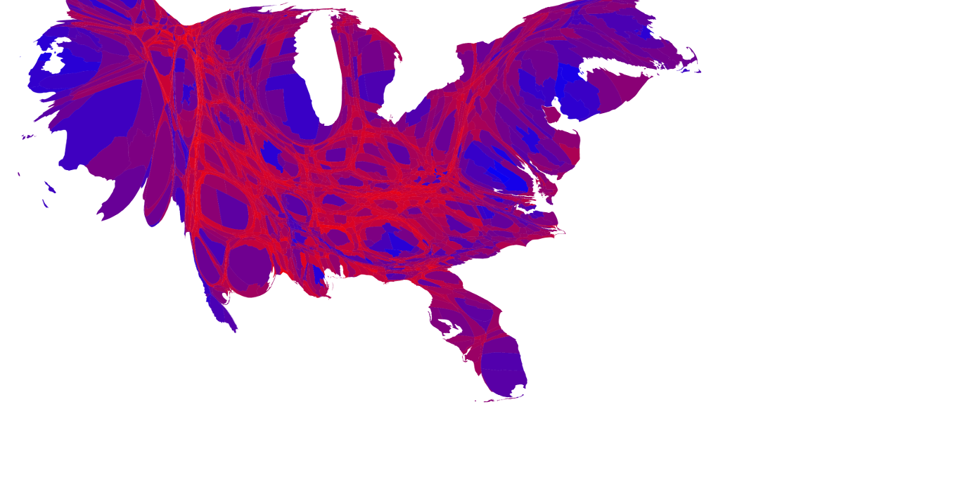 Political Map Of America 2016.The Real 2016 Political Map Is Shockingly Different From Cnn S Inverse