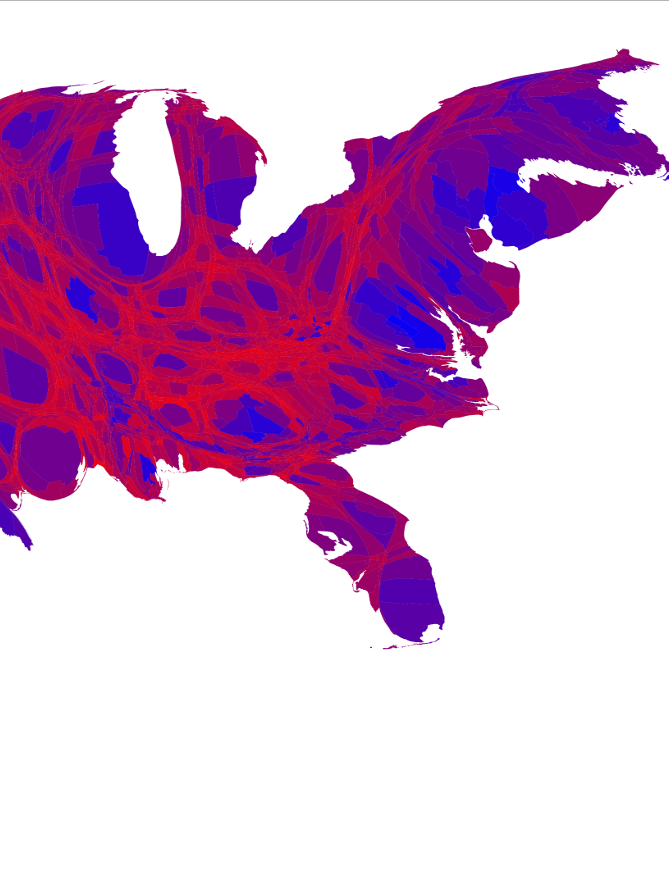 The real political map from the 2016 Election is Shockingly different from CNN's.