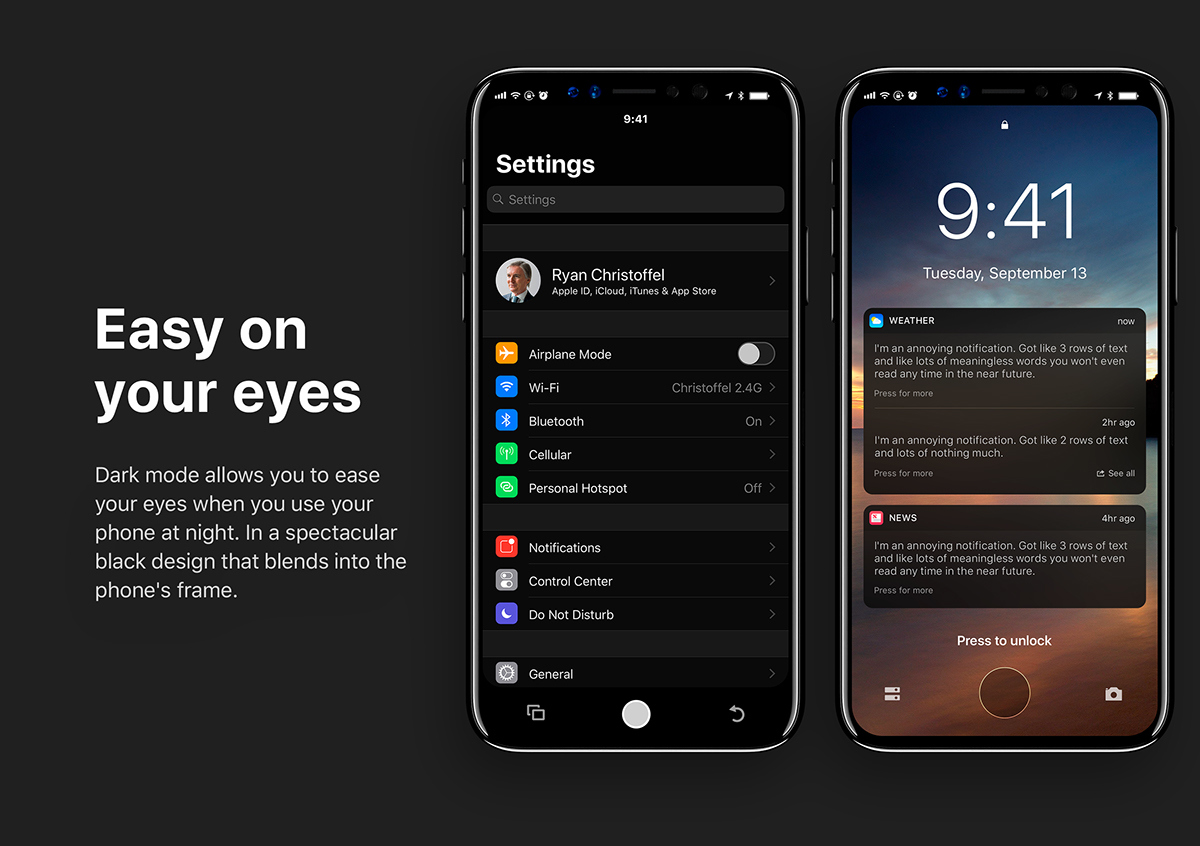 ios 12 dark mode