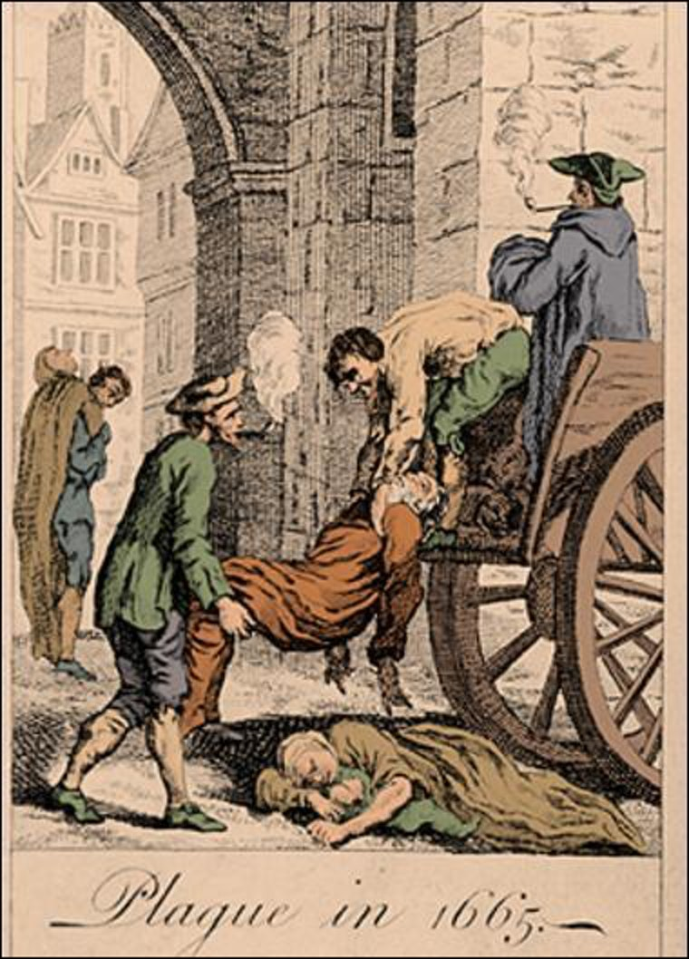 London's Great Plague killed an estimated 100,000 people between 1664-1665.